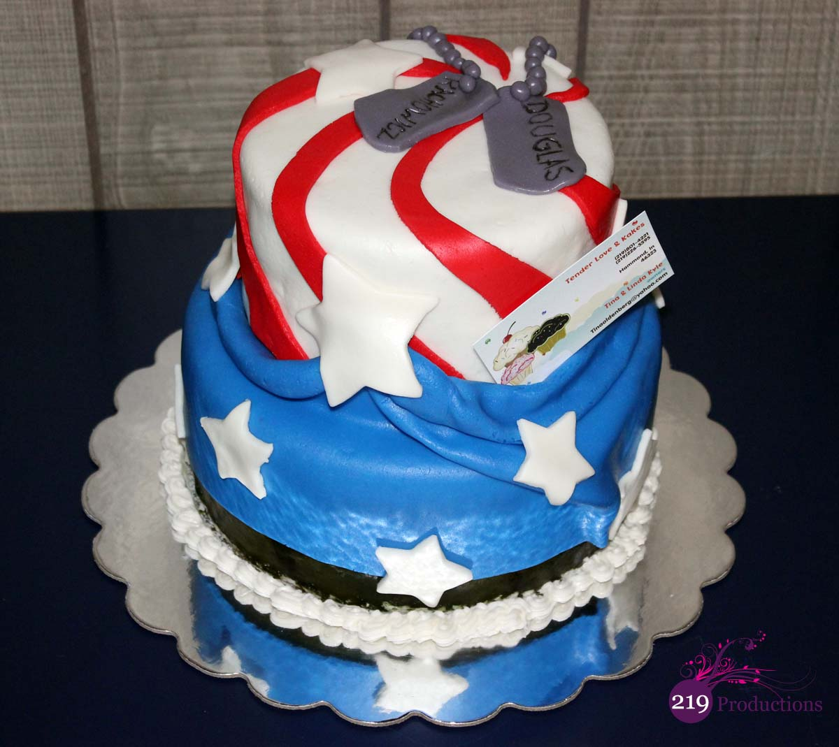 American Flag Cake for Douglas Rachowicz benefit at the American ...