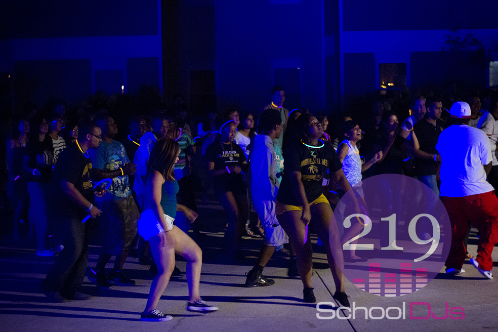 Backyard Party Line Dance :  2013  Purdue Calumet  Blacklight Dance Party DJ  Northwest Indiana